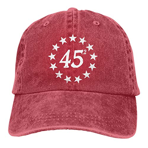 45 Squared Trump Betsy Ross Flag 2020 Second Term Unisex Adult Baseball Hats Cowboy Hats Denim Hats Dad Hat