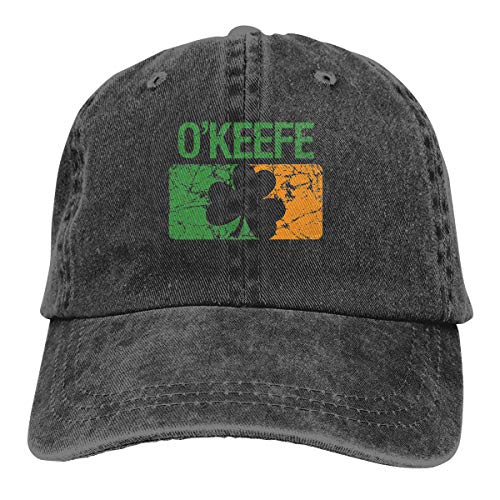 Okeefe Surname Clover Trend Printing Cowboy Hat Fashion Baseball Cap for Men and Women Black