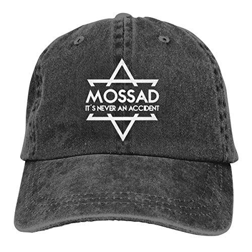 Mossad It's Never an Accident Adjustable Baseball Caps Denim Hats Cowboy Sport Outdoor