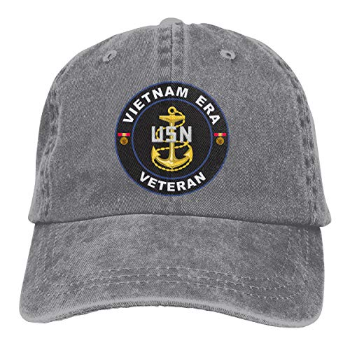 United States Navy Vietnam Era Veteran Retro Adjustable Cowboy Denim Hat Unisex Hip Hop Black Baseball Caps