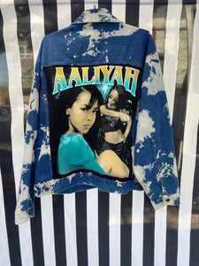 90's Vintage Denim Aaliyah Jacket