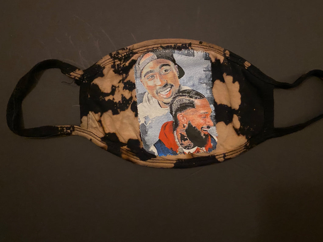 Tupac and Nipsey Face Mask