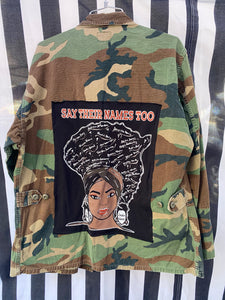 Camoflauge Fatigue Jacket-Say Their Names Too