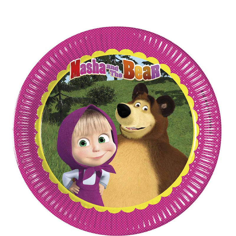 masha and the bear 9 inch plates