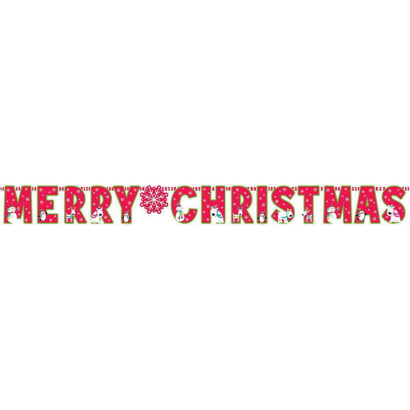 Merry X'Mas Giant Letter Banne