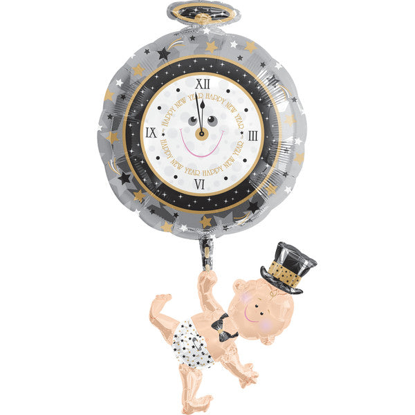 Baby Holding Clock SuperShape Balloon