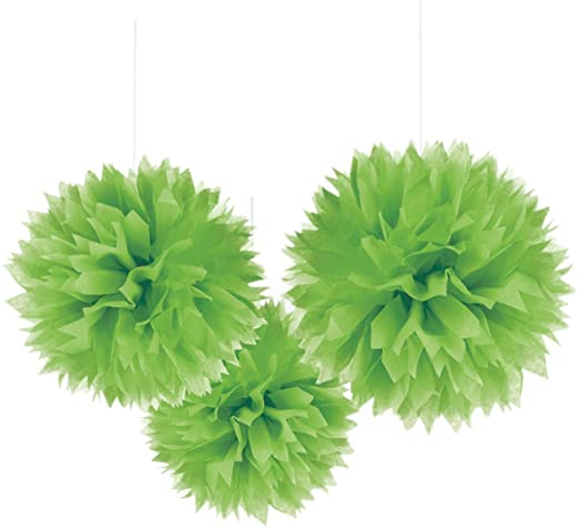 FLUFFY DECORATIONS GREEN