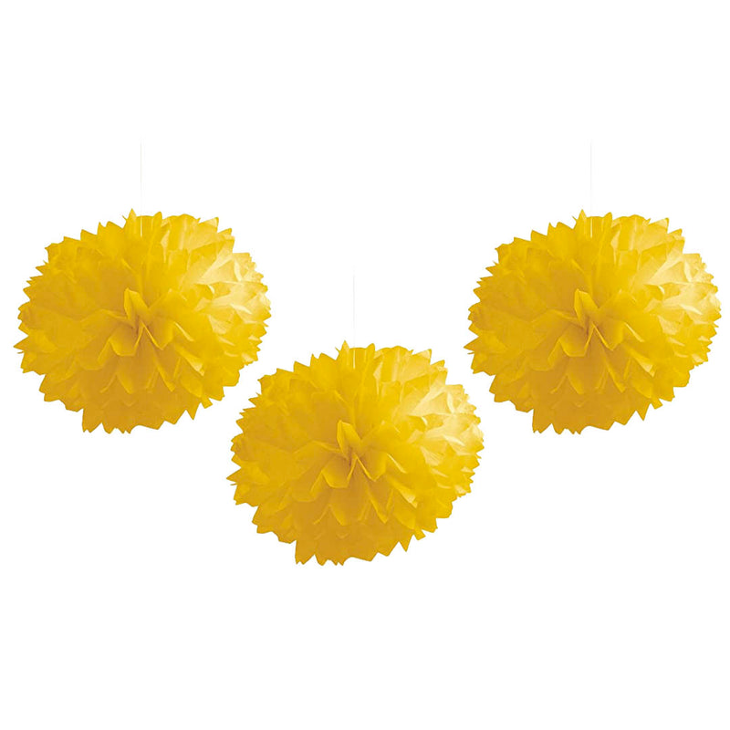 TISSUE BALLS YELLOW