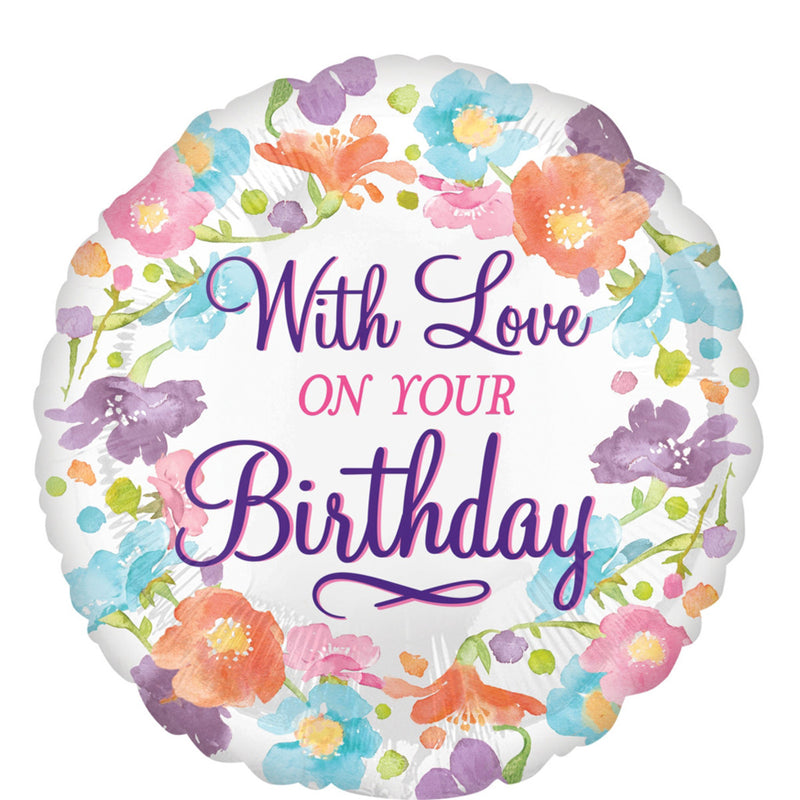 WITH LOVE ON YOUR BIRTHDAY FOIL BALLOON 18""