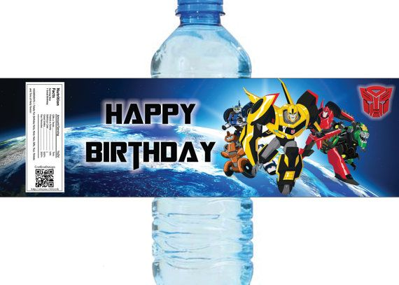 Transformers Water Label