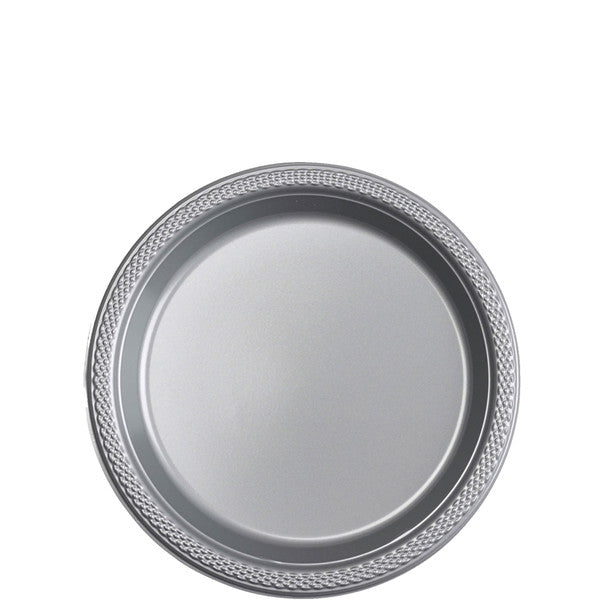 silver 7 inch plates