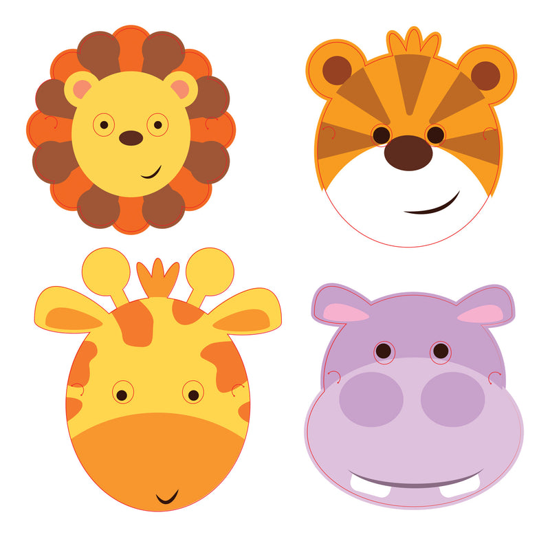 JUNGLE ANIMALS PARTY MASKS