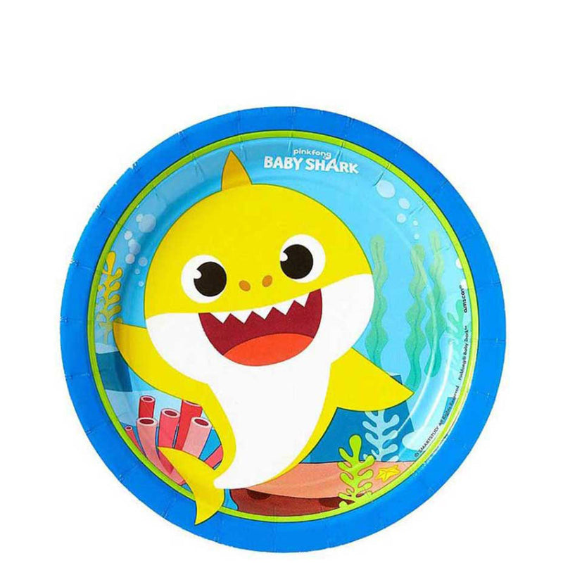 BABY SHARK ROUND 7 INCH  PAPER PLATES