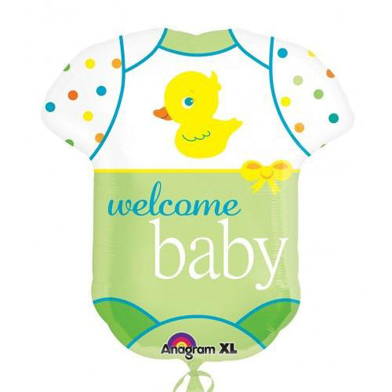 WELCOME BABY DRESS BALLOON