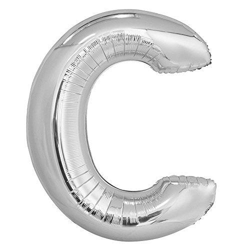 C SILVER LETTER FOIL LARGE BALLOON F/B