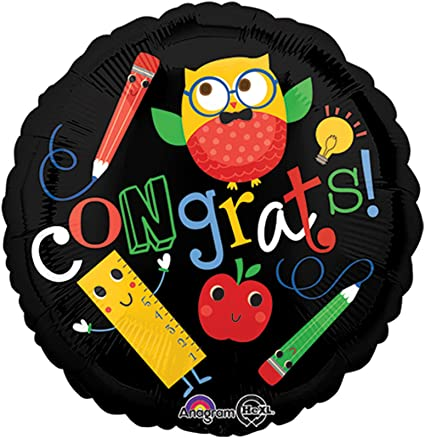 Congrats owl & pencil f/b