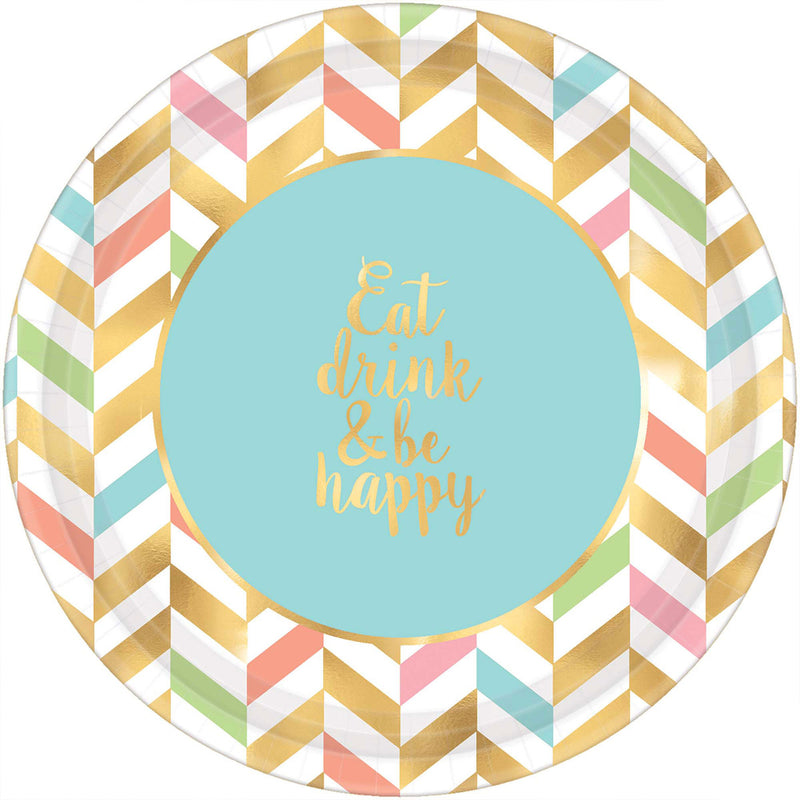 EAT, DRINK, & BE HAPPY PLATE 10.5""