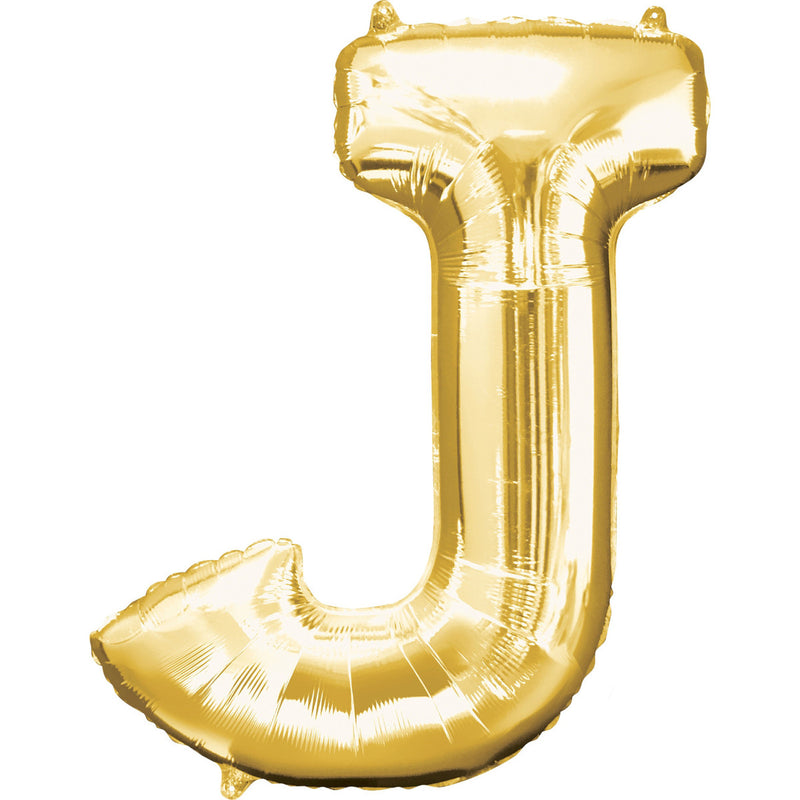 LETTER J GOLD FOIL BALLOON