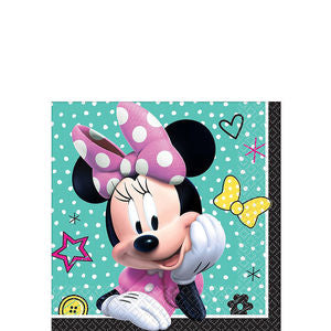 MINNIE MOUSE HAPPY HELPERS BEVERAGE NAPKIN