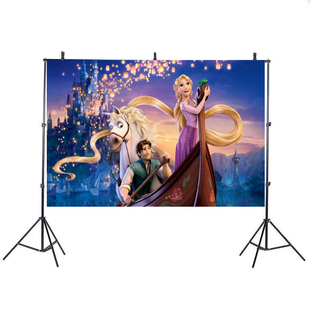 Rapunzel Backdrop Banner