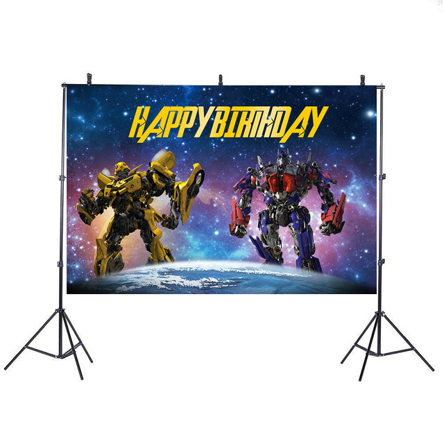 Transformer Personalized Backdrop Banner