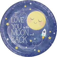 9'' PLATES MOON AND BACK