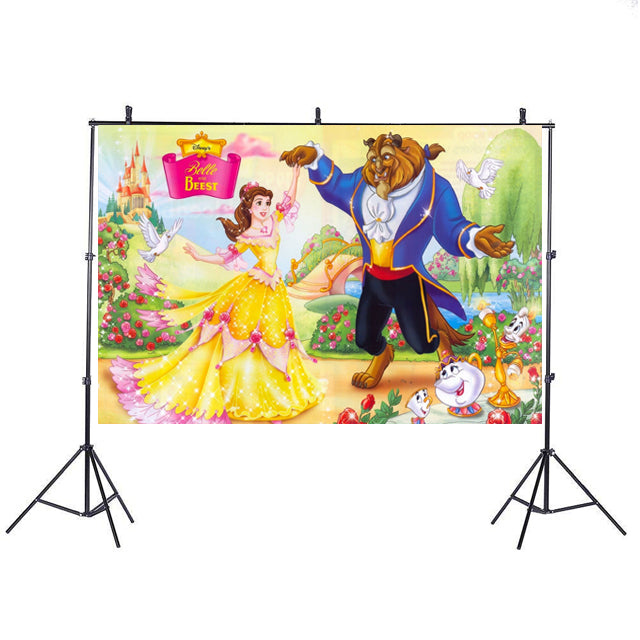 Beauty and the Beast Backdrop Banner