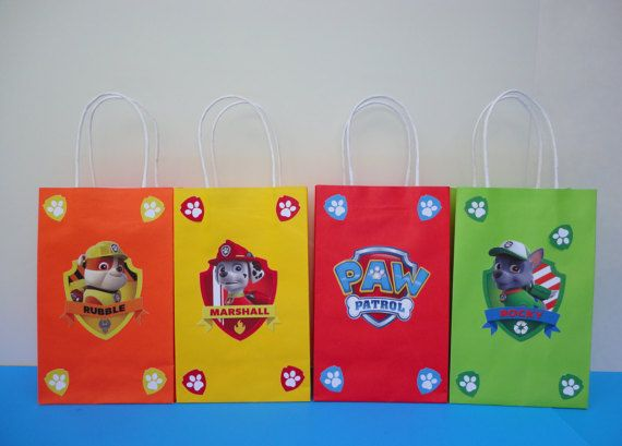 Paw Patrol Personalized Paper bags