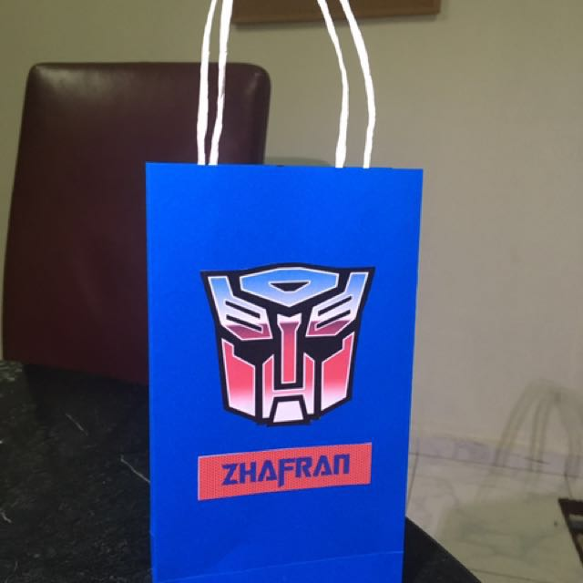 Transformer Personalized Paper Bags