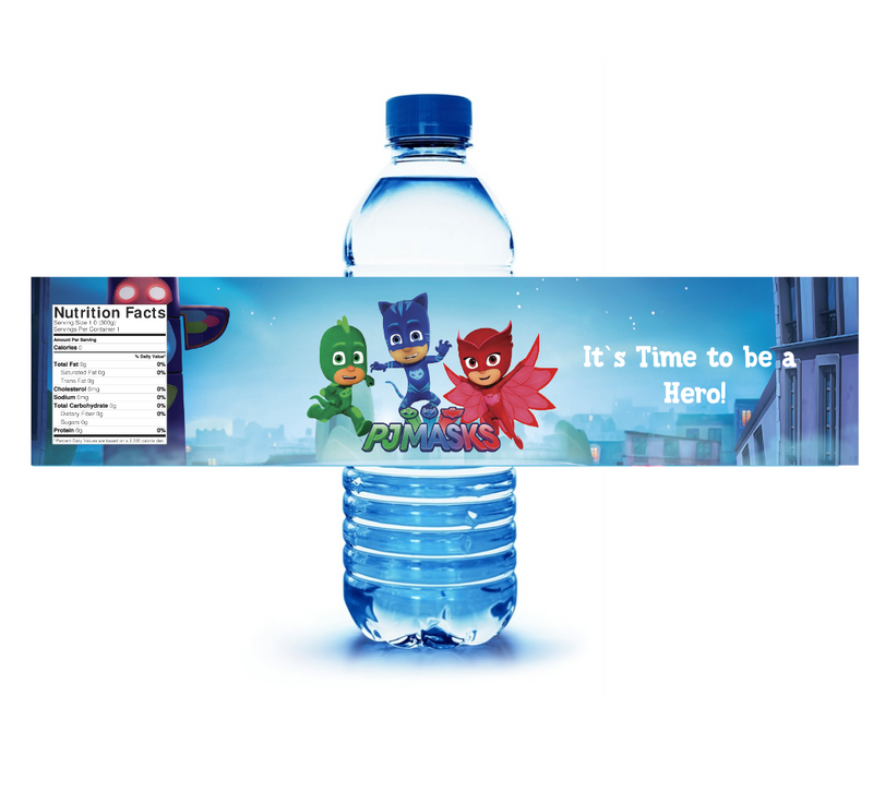 PJ Mask Water Label