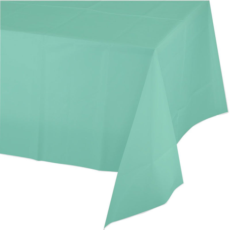 SOLID FRESH MINT RECTANGLE  TABLE COVER