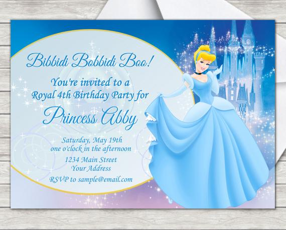 Cinderella Theme Invitation