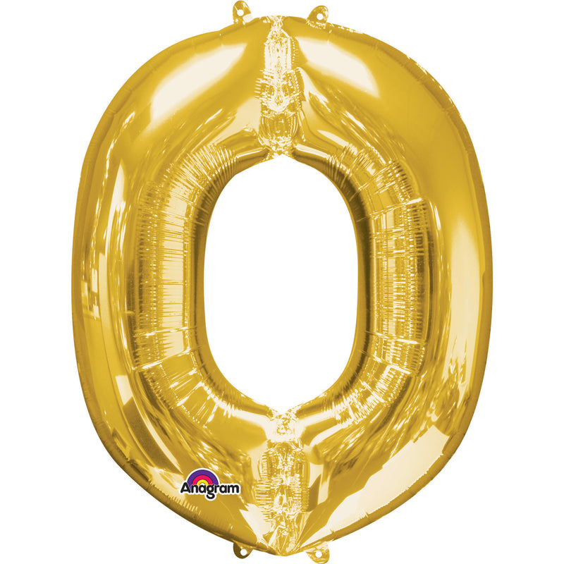 O GOLD LETTER FOIL LARGE BALLOON F/B