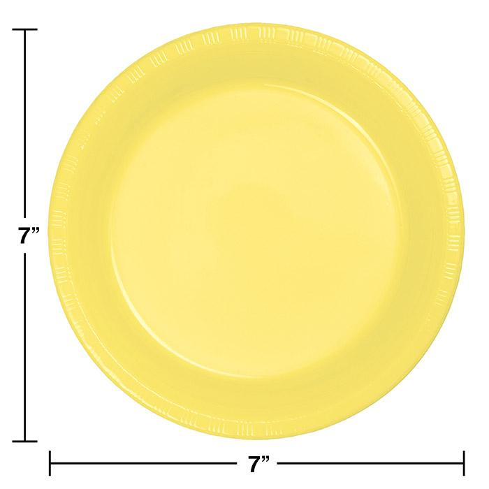 SOLID YELLOW 7 INCH PLATE