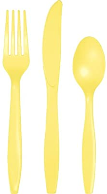 SOLID YELLOW CUTLERY