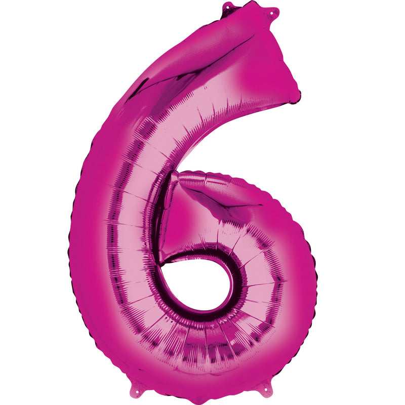 #6 PINK FOIL LARGE BALLOON F/B