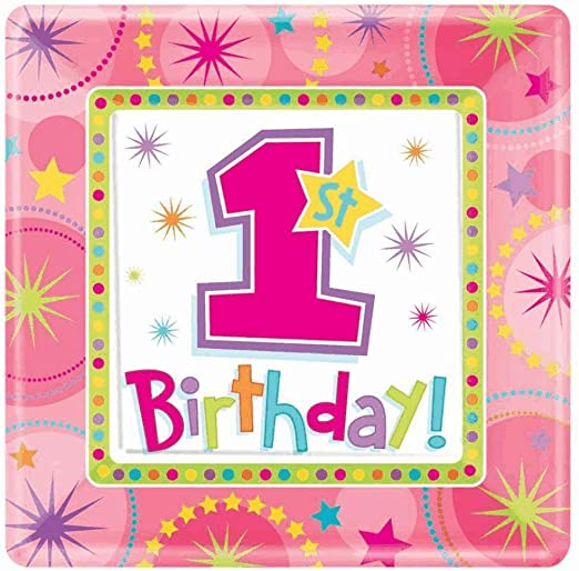 ONE-DERFUL BDAY GIRL 7 INCH SQU