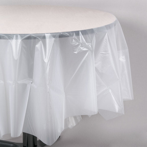 SOLID CLEAR ROUND TABLECOVER