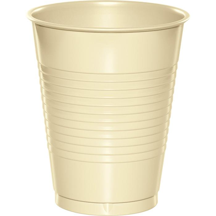 IVORY SOLID COLOR PLASTIC CUPS