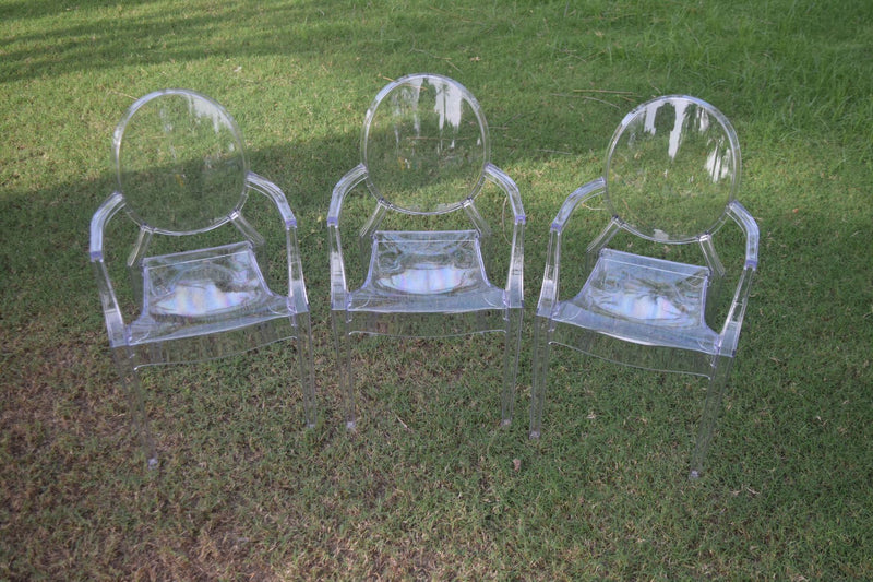 PLASTIC OR CLEAR CHAIRS