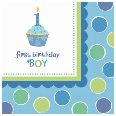 FIRST BIRTHDAY BOY NAPKIN