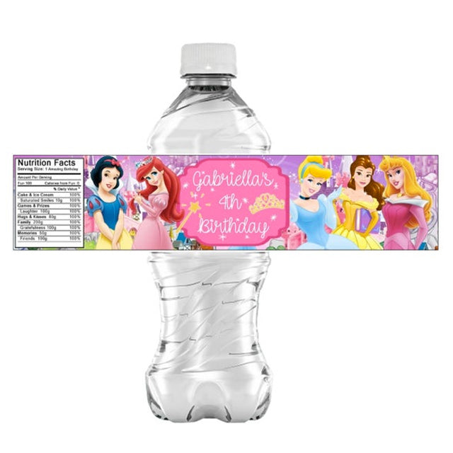 Princess Water Labels Sticker
