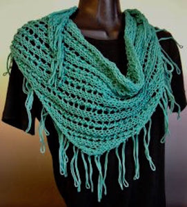 Scarf - Fringed Triangle Scarf