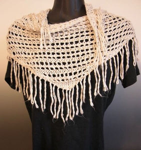 Scarf - Beaded Silk Triangle Scarf