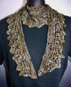 Scarf - Lacy Crescent Scarf