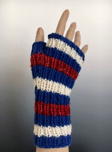 Handwarmers - Handwarmer: Mini Striped Ribbed Mitts
