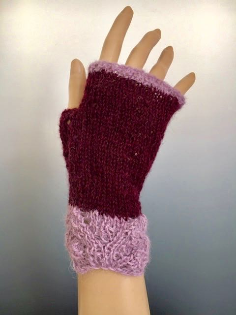 Handwarmers - Handwarmer with Gradient Lace Cuff