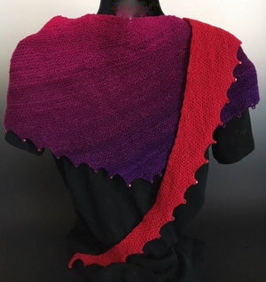 Shawlette - Triangle with Beads