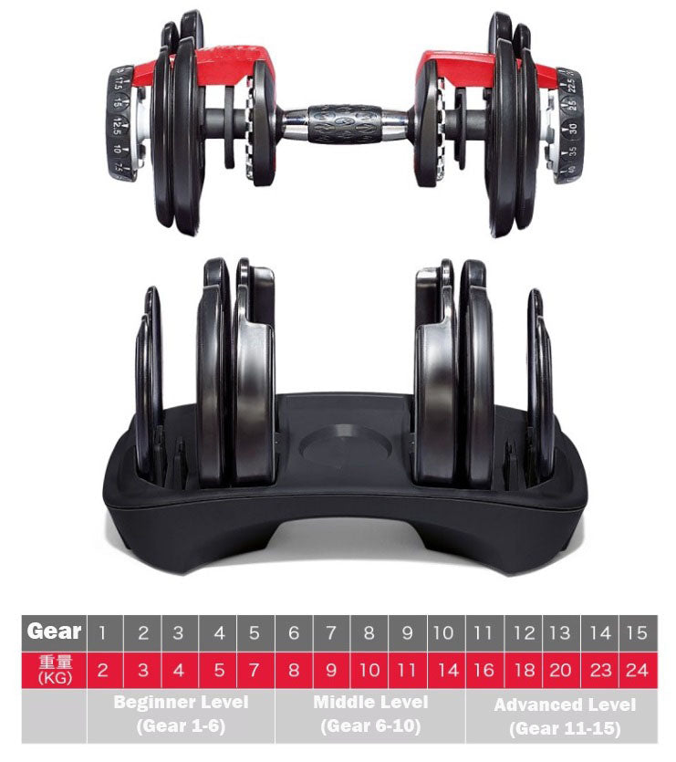 Quick Adjustable Dumbbell - Dumbbell | Gym51