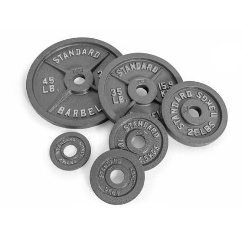 4 Line Metal Olympic Plates - Weight Plates | Gym51